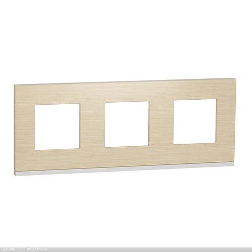 NU600683 Рамка 3-постова, горизонтальна, Клен/білий