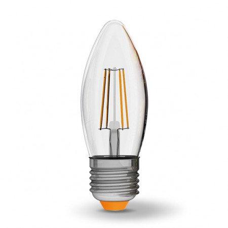 LED лампа VIDEX Filament C37F 4W E27 4100K 220V VL-C37F-04274