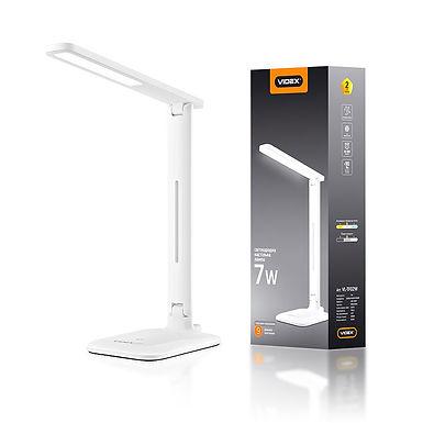 LED лампа настольная VIDEX  VL-TF02W 7W 3000-5500K 220V