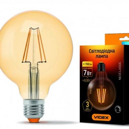 LED лампа VIDEX Filament G95FAD 7W E27 2200K 220V диммерная VL-G95FAD-07272