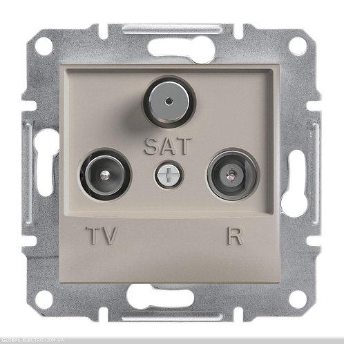 EPH3500269 TV-R-SAT РОЗЕТКА 4dB проходной ASFORA БРОНЗА