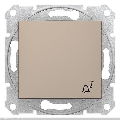 """SDN0800168 Кнопочный выключатель с символом """"ЗВОНОК"""" SEDNA ТИТАН"""
