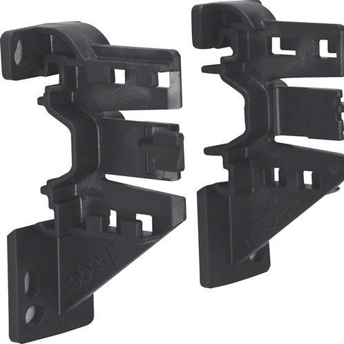 Тримач для патч-панелі, правий/лівий, монтаж на DIN-рейку або різьбовий