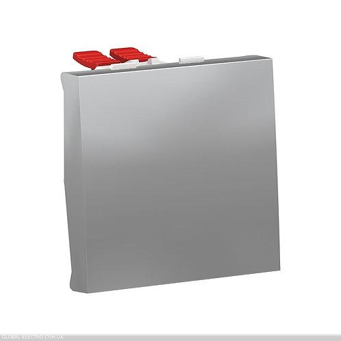 NU320530 Перемикач 1-клавішний перехресний схема 7, 10А, 2 модуля алюміній