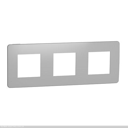 NU280655 Рамка 3-постова, Хром/білий