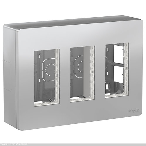 NU123430 Блок unica system+ відкрита вставка. 3х2 алюміній