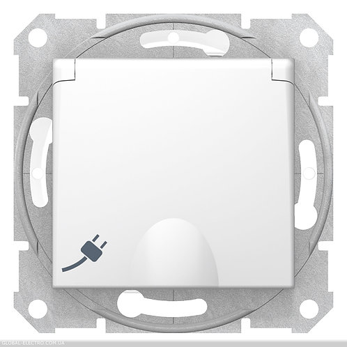SDN3100521 РОЗЕТКА С самозаж клеммами с З\К И КРЫШКОЙ SEDNA IP44 БЕЛЫЙ
