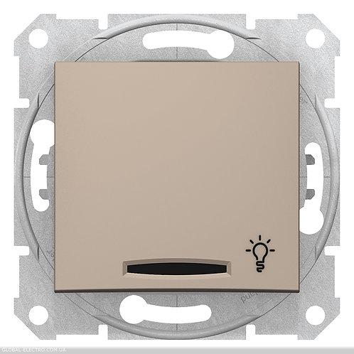 """SDN1800168 Кнопочный выключатель SEDNA из символов """"СВЕТ"""" и подсветкой ТИТАН"""