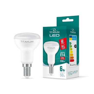 LED лампа TITANUM R50 6W E14 4100K 220V 50шт/ящ TLR5006144