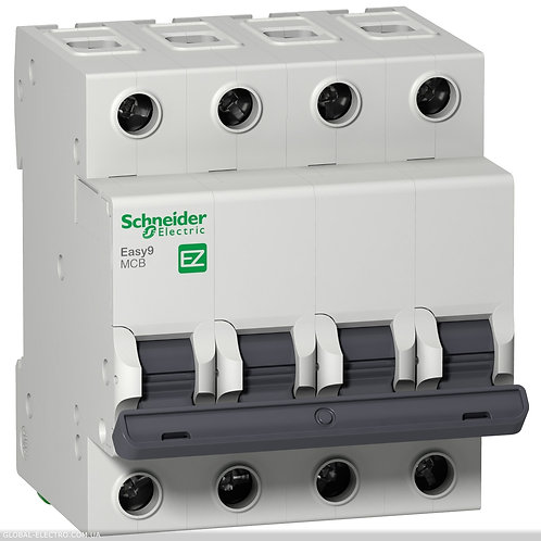 "EZ9F34463 Автоматический выключатель EASY 9 4П 63А 4,5 кА характеристика ""С"""