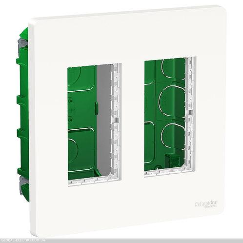 NU172418 Блок unica system+ прихована вставка 2х2 білий