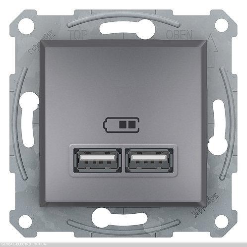 EPH2700262 USB РОЗЕТКА 2,1A СТАЛЬ ASFORA