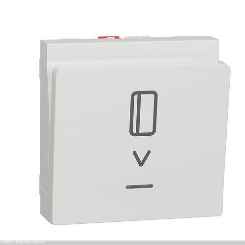 NU328318 Вимикач картковий з підсвіткою 10А, 2 модуля білий