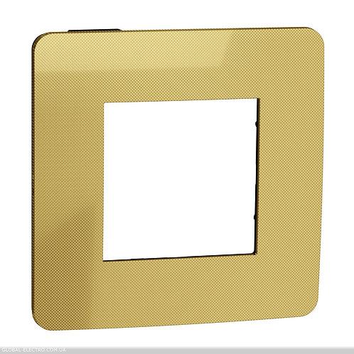 NU280262 Рамка 1-постова, Золото/антрацит