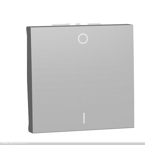 NU326230 Двополюсний вимикач 16А 2 модуль алюміній