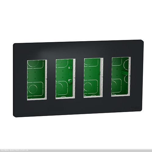 NU174454 Блок unica system+ прихована вставка 4х2 антрацит