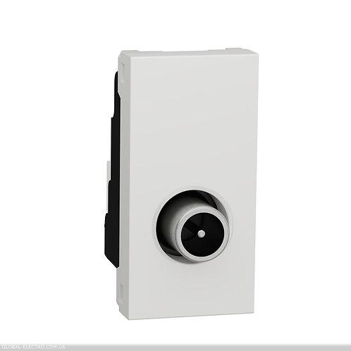 NU346118 Розетка TV одинарна, 1 модуль білий