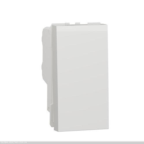 NU316218 Двополюсний вимикач 16А 1 модуль білий
