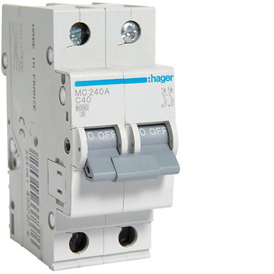 Автоматичний вимикач 2P 6kA C-40A 2M
