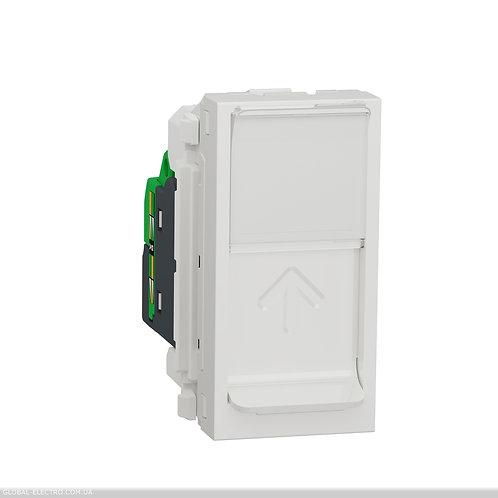 NU341618 Розетка комп'ютерна RJ45, одинарна категорія 6 STP, 1 модуль білий