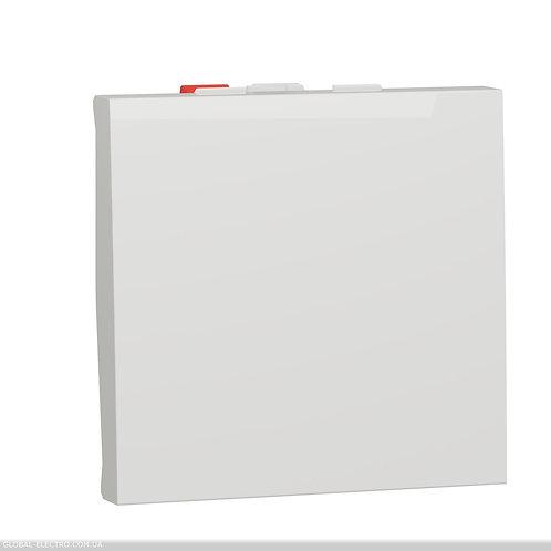 NU320318 Перемикач 1-клавішний схема 6, 10А, 2 модуля білий