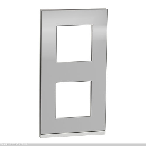 NU6004V80 2 постова рамка вертикальна Unica Pure алюміній