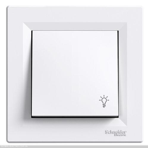"""EPH0900121 Кнопочный выключатель с символом """"СВЕТ"""", самозажимные, БЕЛЫЙ ASFORA"""