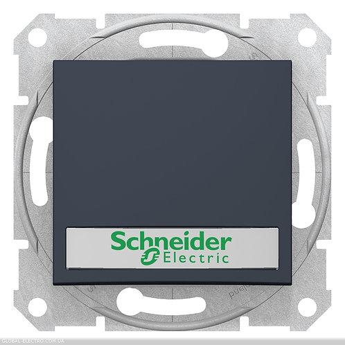 SDN1600370 Кнопочный выключатель SEDNA с подсв и полем для Маркировка ГРАФИТ