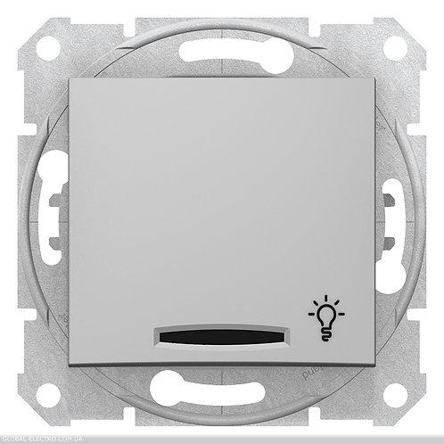 """SDN1800160 Кнопочный выключатель SEDNA из символов """"СВЕТ"""" и подсветкой АЛЮМИНИЙ"""