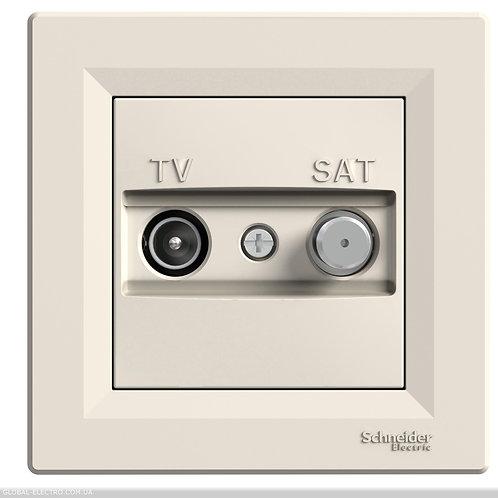 EPH3400323 TV-SAT РОЗЕТКА 8dB проходной КРЕМ ASFORA