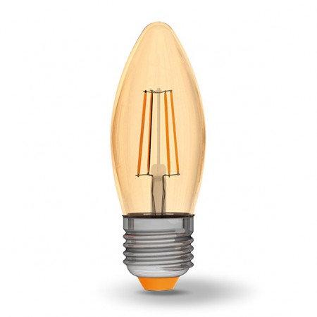 LED лампа VIDEX Filament C37FA 4W E27 2200K 220V VL-C37FA-04272
