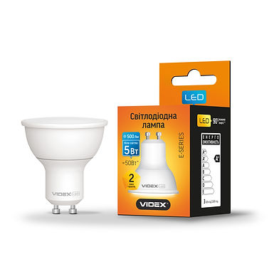 LED лампа VIDEX MR16е 5W GU10 4100K 220V