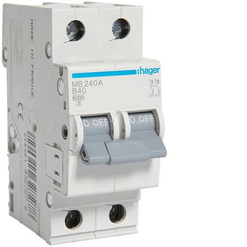 Автоматичний вимикач 2P 6kA B-40A 2M