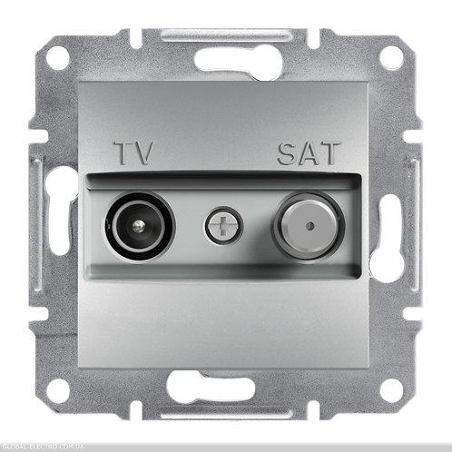 EPH3400361 TV-SAT РОЗЕТКА 8dB проходной ASFORA АЛЮМИНИЙ