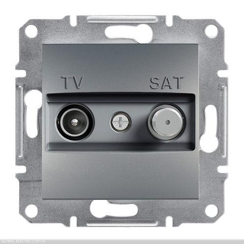 EPH3400162 TV-SAT РОЗЕТКА КОНЕЧНАЯ А ASFORA СТАЛЬ