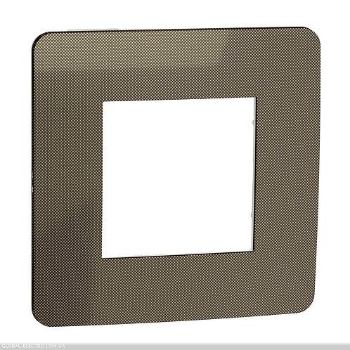 NU280250 Рамка 1-постова, Бронза/білий