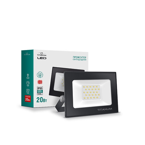 LED прожектор TITANUM 20W 6000K TLF206 220V 40 шт/ящ