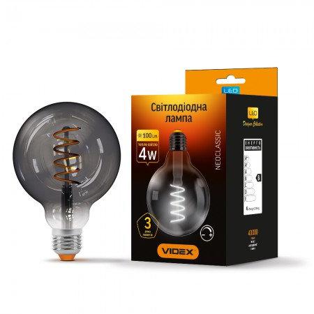 LED лампа VIDEX Filament G95FG 4W E27 2100K 220V VL-G95FG-04272