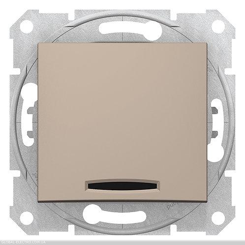 SDN0501168 ПЕРЕКРЕСТНЫЙ Выключатель с подсветкой SEDNA ТИТАН