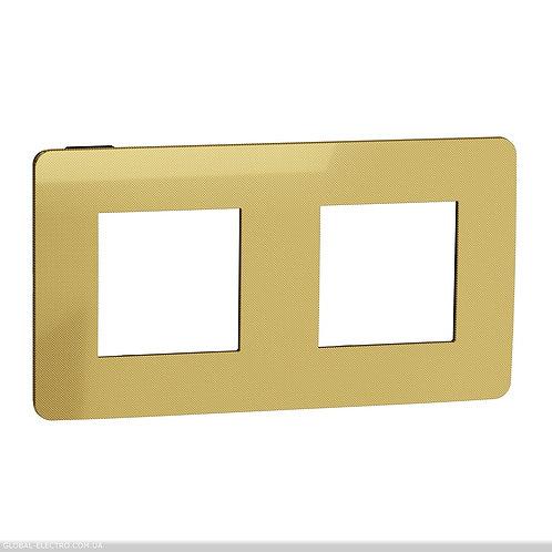 NU280462 Рамка 2-постова, Золото/антрацит