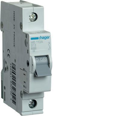 Автоматичний вимикач 1P 6kA B-13A 1M