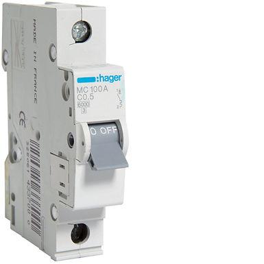 Автоматичний вимикач 1P 6kA C-0.5A 1M