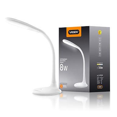 LED лампа настольная VIDEX  VL-TF03W 8W 3000-5500K 220V