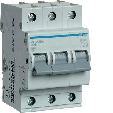 Автоматичний вимикач 3P 6kA C-25A 3M