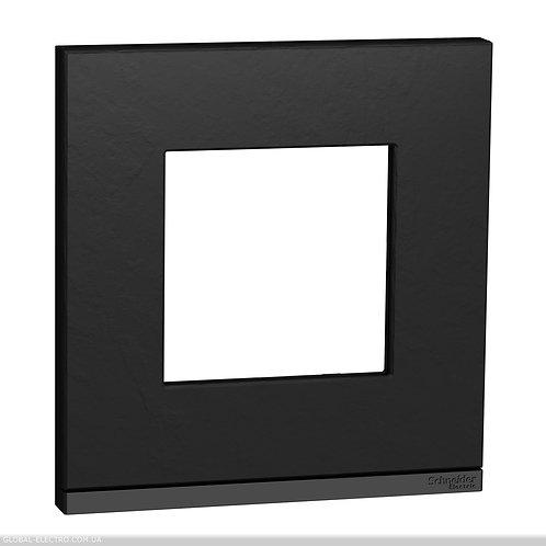 NU600287 Рамка 1-постова, горизонтальна, Камінь/антрацит