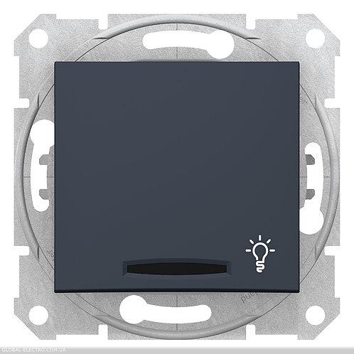 """SDN1800170 Кнопочный выключатель SEDNA из символов """"СВЕТ"""" и подсветкой ГРАФИТ"""