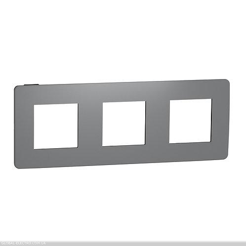 NU280622 Рамка 3-постова, Димчато-сірий/антрацит