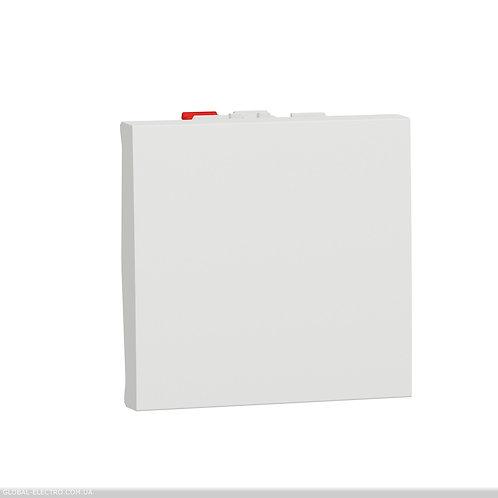 NU320618 Вимикач 1-клавішний кнопковий схема 1 10А, 2 модуля білий