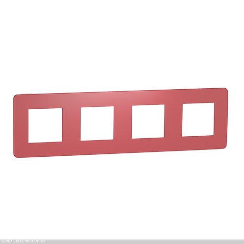 NU280813 Рамка 4-постова, Червоний/білий