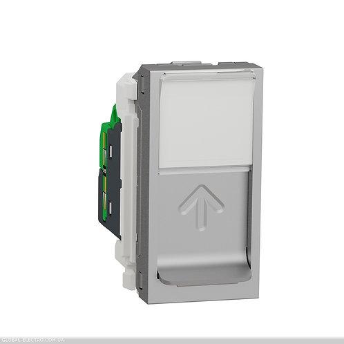NU341430 Розетка комп'ютерна RJ45, одинарна категорія 6 UTP, 1 модуль алюміній